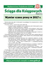 Wymiar czasu pracyw2017r. - Ściągi i Pomocniki dla księgowych