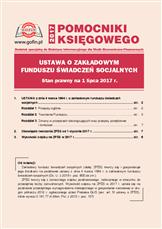 Ustawa o Zakładowym Funduszu Świadczeń Socjalnych. Stan prawny na 1 lipca 2017 r.
