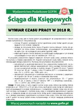 Wymiar czasu pracy w 2018 r. - Ściągi i Pomocniki dla księgowych