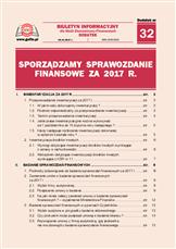 Sporządzamy sprawozdanie finansowe za 2017r.
