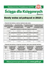 Kwoty wolne od potrąceń w 2018 r. - Ściągi i Pomocniki dla księgowych