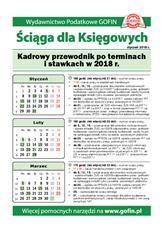 Kadrowy przewodnik po terminach i stawkach w 2018 r. - Ściągi i Pomocniki dla księgowych