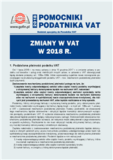 Zmiany w VAT w 2018 r.