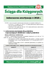 Jednorazowa amortyzacja w 2018 r. - Ściągi i Pomocniki dla księgowych
