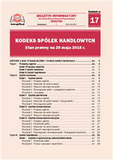Kodeks spółek handlowych. Stan prawny na 20 maja 2018 r.