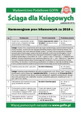 Harmonogram prac bilansowych za 2018 r. - Ściągi i Pomocniki dla księgowych
