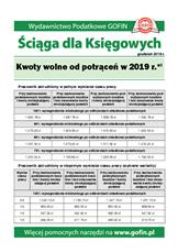 Kwoty wolne od potrąceń w 2019 r. - Ściągi i Pomocniki dla księgowych