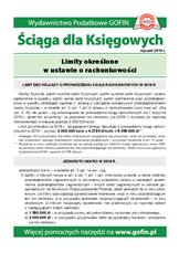 Limity określone w ustawie o rachunkowości - Ściągi i Pomocniki dla księgowych