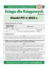 Stawki PIT w 2019 r. - Ściągi i Pomocniki dla księgowych