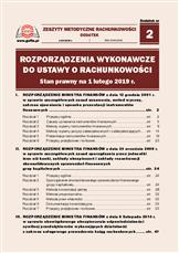 Rozporządzenia wykonawcze do ustawy o rachunkowości. Stan prawny na 1 lutego 2019 r.