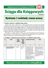 Systemy i rozkłady czasu pracy - Ściągi i Pomocniki dla księgowych