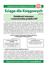 Działalność mieszana - roczna korekta podatku VAT - Ściągi i Pomocniki dla księgowych