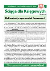 Elektronizacja sprawozdań finansowych - Ściągi i Pomocniki dla księgowych