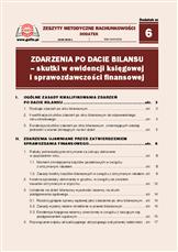 Zdarzenia po dacie bilansu - skutki w ewidencji księgowej i sprawozdawczości finansowej