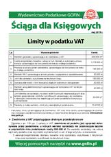 Limity w podatku VAT - Ściągi i Pomocniki dla księgowych