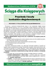 Przychody ikoszty kontraktów długoterminowych - Ściągi i Pomocniki dla księgowych