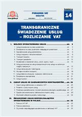 Transgraniczne świadczenie usług - rozliczanie VAT