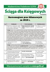 Harmonogram prac bilansowych za 2019r. - Ściągi i Pomocniki dla księgowych