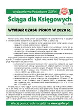 Wymiar czasu pracy w2020r. - Ściągi i Pomocniki dla księgowych