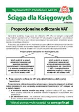 Proporcjonalne odliczanie VAT - Ściągi i Pomocniki dla księgowych