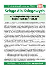 Przekazywanie e-sprawozdań finansowych Szefowi KAS - Ściągi i Pomocniki dla księgowych
