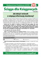 Jak złożyć wniosek o wiążącą informację stawkową? - Ściągi i Pomocniki dla księgowych