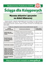 Wycena aktywów i pasywów na dzień bilansowy - Ściągi i Pomocniki dla księgowych