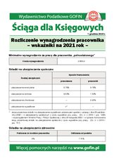Rozliczenie wynagrodzenia pracownika - wskaźniki na 2021 rok - Ściągi i Pomocniki dla księgowych