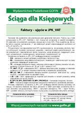 Faktury - ujęcie w JPK_VAT - Ściągi i Pomocniki dla księgowych