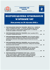 Rozporządzenia wykonawcze wsprawie VAT. Stan prawny na 20 stycznia 2021r.