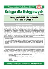 Mały podatnik dla potrzeb PIT i CIT w 2021 r. - Ściągi i Pomocniki dla księgowych