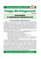 Jednoślady wdziałalności gospodarczej - Ściągi i Pomocniki dla księgowych