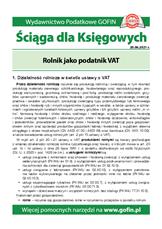 Rolnik jako podatnik VAT - Ściągi i Pomocniki dla księgowych