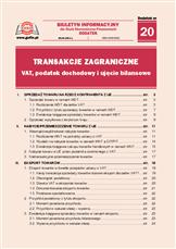 Transakcje zagraniczne - VAT, podatek dochodowy i ujęcie bilansowe
