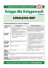 Szkolenia BHP - Ściągi i Pomocniki dla księgowych