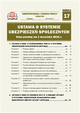 Ustawa o systemie ubezpieczeń społecznych. Stan prawny na 1 września 2021 r.