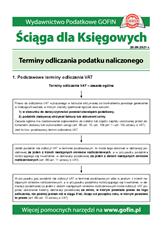 Terminy odliczania podatku naliczonego - Ściągi i Pomocniki dla księgowych