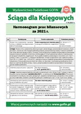 Harmonogram prac bilansowych za 2021 r. - Ściągi i Pomocniki dla księgowych