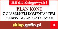 Plan kont z obszernym komentarzem bilansowo-podatkowym