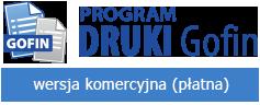 Program DRUKI Gofin - wersja komercynja
