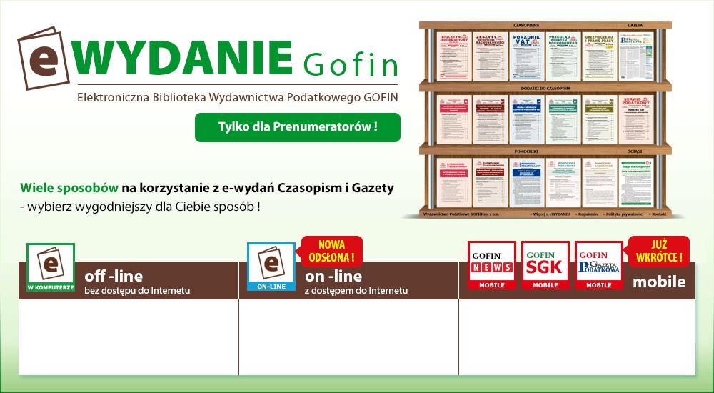 Już wkrótce GOFIN Gazeta Podatkowa