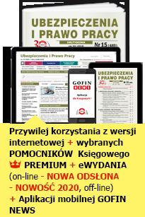 Ubezpieczenia i Prawo Pracy - GOFIN