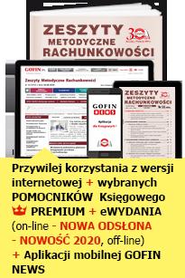 Zeszyty Metodyczne Rachunkowości - GOFIN