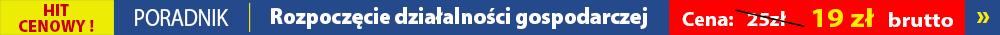 Rozpoczęcie działalności gospodarczej - sklep.gofin.pl